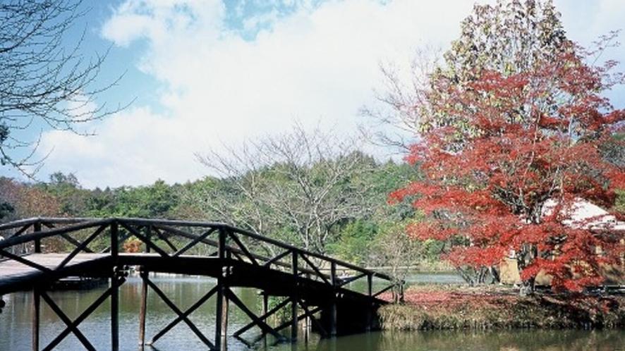 ■紅葉の塩沢湖