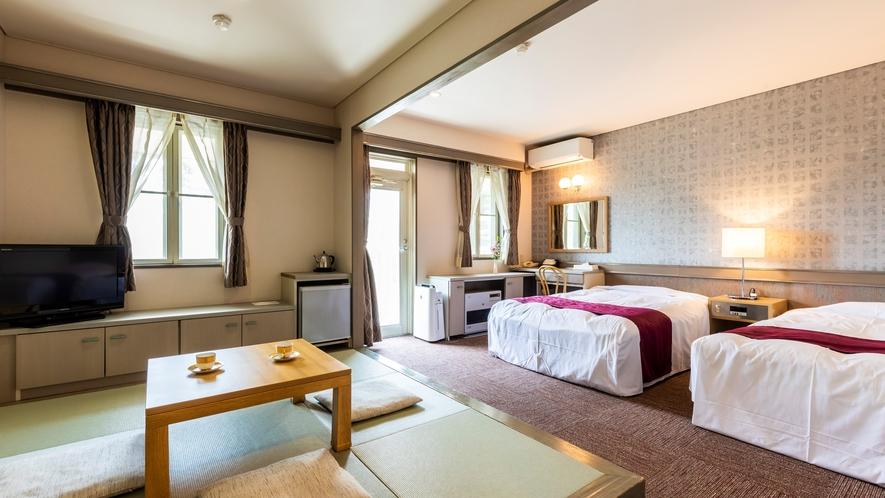 ■デラックス・ツイン 琉球畳スペース付き和洋室 大切な家族とゆったりとした時間を