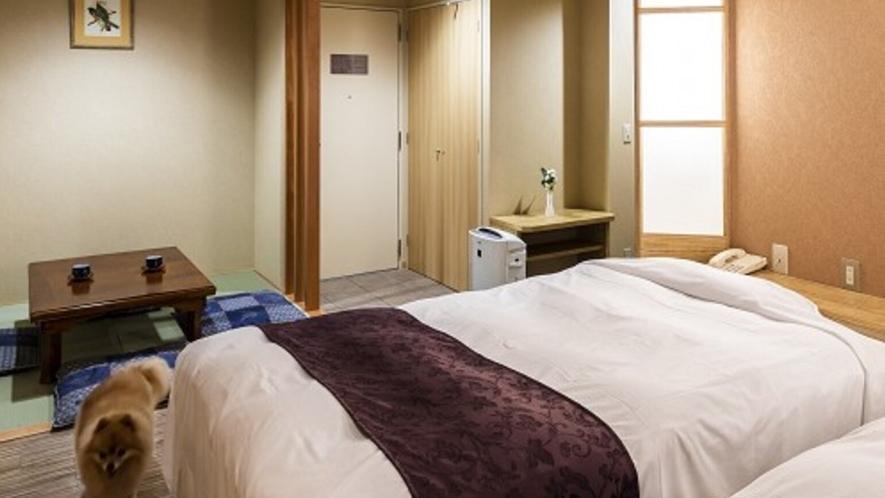 ■デラックス・ツイン 畳スペース付き洋室 畳スペース、冬はこたつを・・