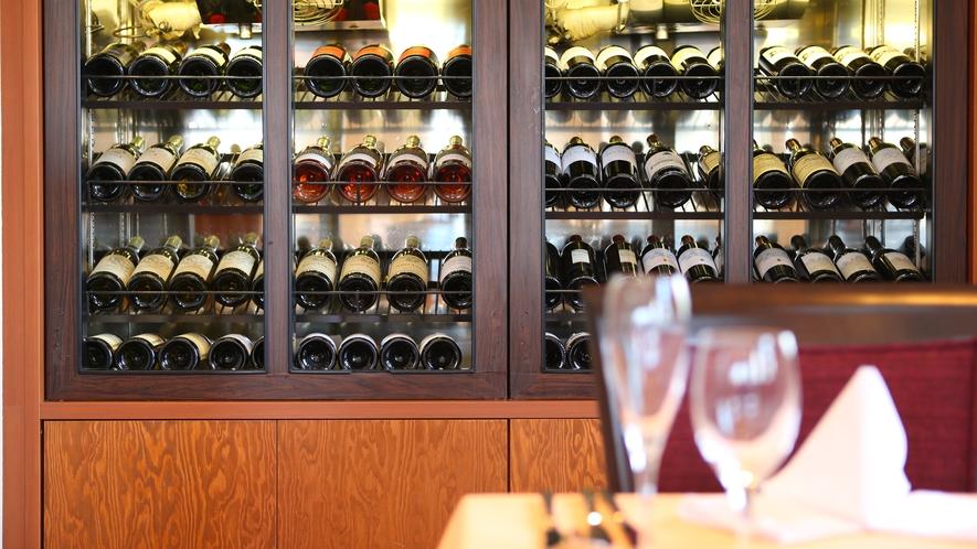 ワインセラーには様々なワインをご用意いたしております