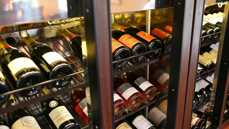 ワインも数多く揃えております