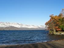 初冬の屈斜路湖