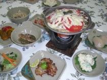 温泉の夕食