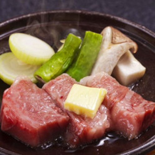 神戸牛の陶板焼き