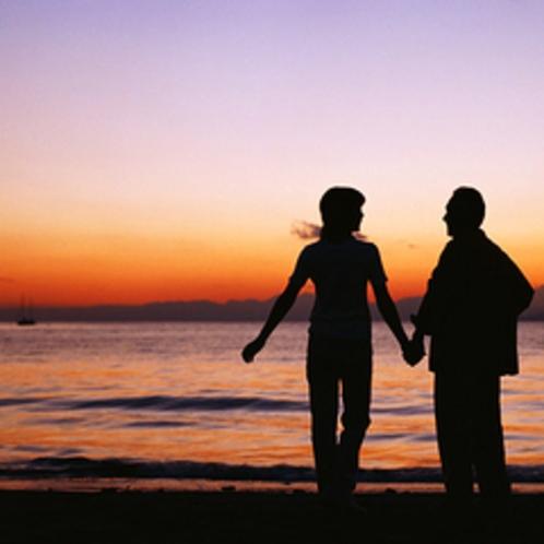 弓ヶ浜の夕景を大事な人と・・・