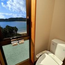 露天風呂付客室-トイレ-