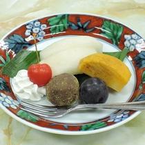 【お料理】夕食一例*季節のフルーツ