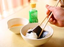 朝食の海苔巻きご飯