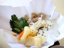 朝食の温泉豆腐