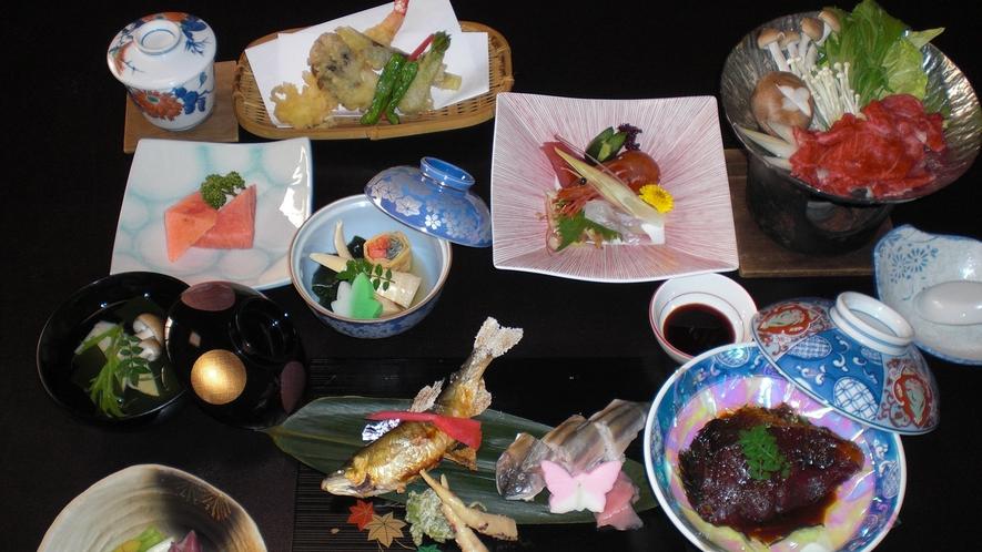 *川魚を使ったお食事例