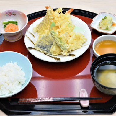 【事前カード決済】定番人気メニュー!地物野菜を使った「天ぷら定食」プラン♪※7日前から返金不可
