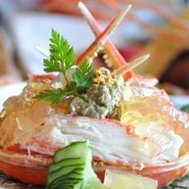 調理長特製蟹の甲羅盛り