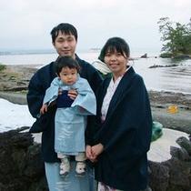 かわいいお子様の能登デビュー!!家族でのプランも豊富にご用意しております。