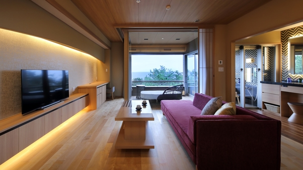 NEW:温泉半露天・テラス付フレンドリー室(4ベッド):5F