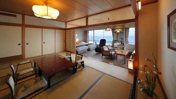 角部屋和洋室(12畳+TWベッド+ソファ+内風呂)