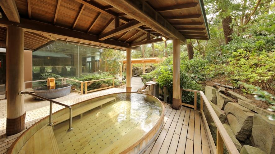 大浴場「安房八景の湯」_桶風呂