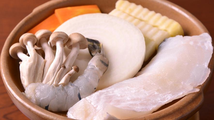 *お夕食一例(海鮮鍋)