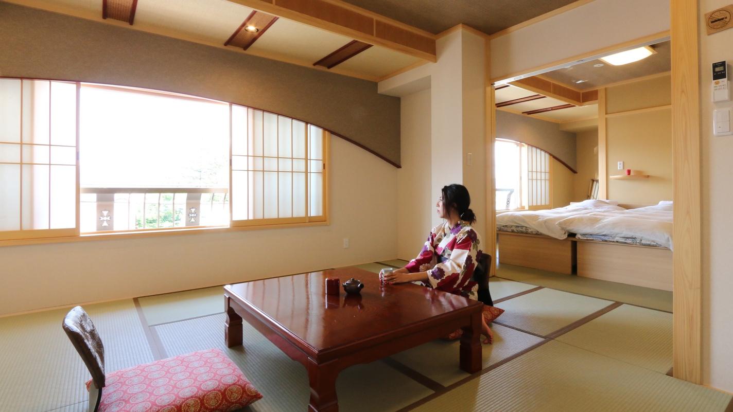 【お気に入りの色浴衣で】特別室は特に色浴衣が似合います。