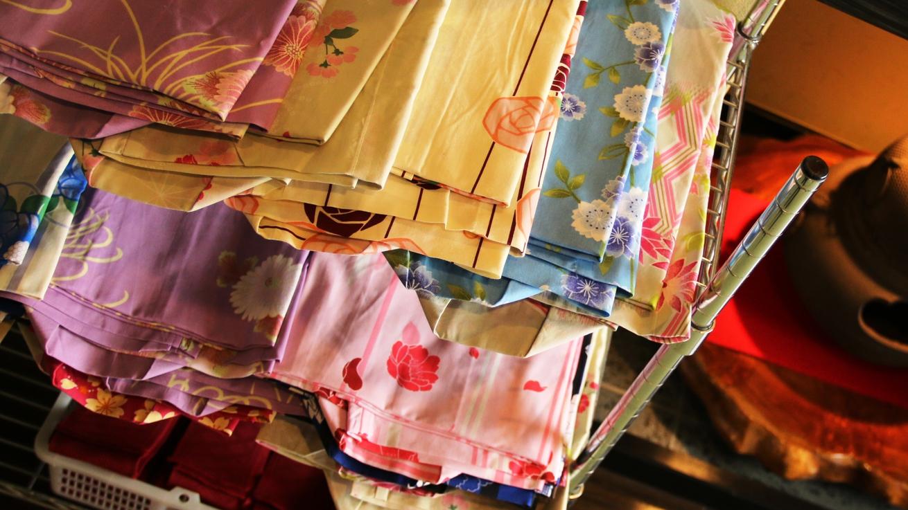 可愛い「色浴衣」♪温泉街の散策をお楽しみ下さい★
