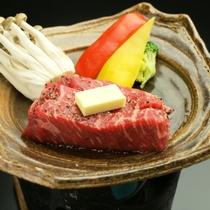 夕食 上州牛ステーキ