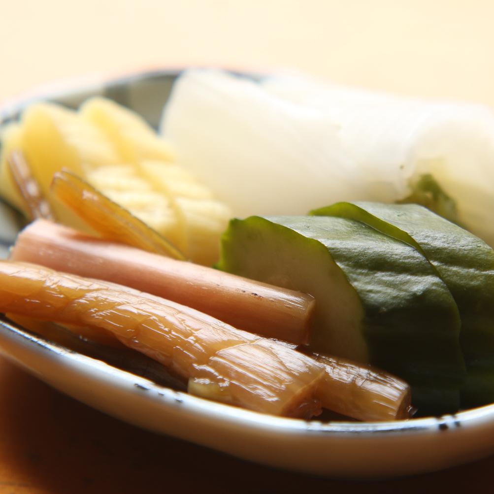 ◆【自家製ぬか漬け】いけの特製自家栽培のお漬物です。落ち着く味で箸休め