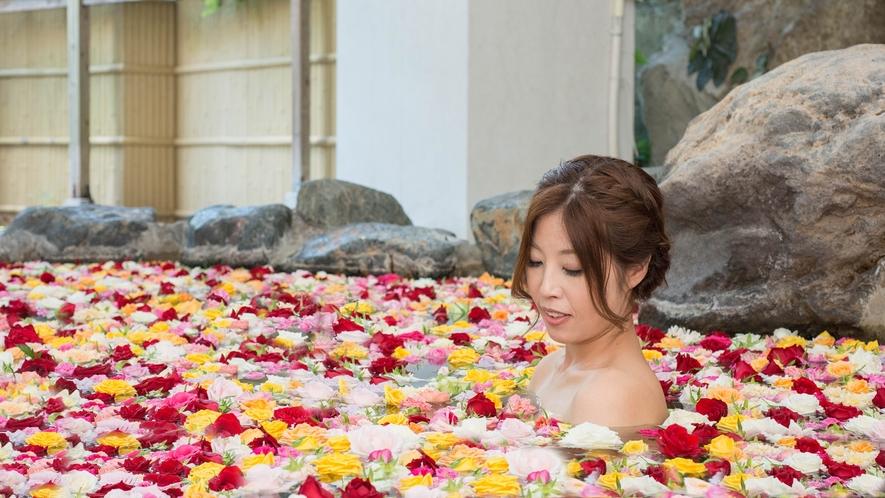 *生バラ風呂