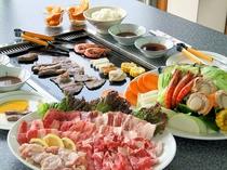 焼肉海鮮バーベキュー(3人前例)
