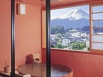 客室露天からの富士山