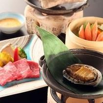 ■信州アルプス牛・鮑・蟹 三大味覚
