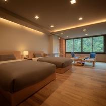 【客室一例】1日1組限定ツインベッドのお部屋