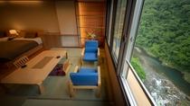 【客室一例】ツインベッドのお部屋からの景色