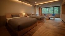 【和洋室】1日1組様限定のお部屋です。フランスベッドでゆっくりと夜をお過ごしください。