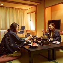 お部屋食イメージ(お部屋でお食事をお召し上がり頂けます)■カップルプラン■