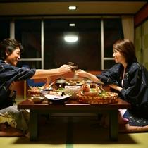 【お部屋食イメージ】二人っきりの時間を大切に・・・