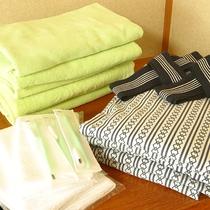 *[アメニティ一例]浴衣は300円税込で貸出あり★バスタオル/タオル/歯ブラシセット等