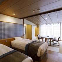 *【和洋室】開放的な窓から利尻富士や海を眺められるお部屋です。