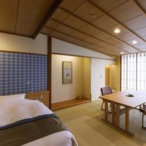 【和洋室】開放的な窓から利尻富士や海を眺められるお部屋です。
