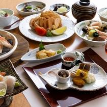 【夕食一例】お料理グレードアップの『宝楽コース』贅沢を詰め込んだ自慢の夕食です。