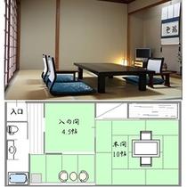遊仙観客室例 258号室