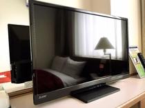 全客室TVは大型になり、VODシステム導入済です。