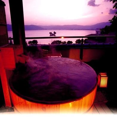 諏訪湖と星空を一望♪【展望露天風呂付】客室プラン!