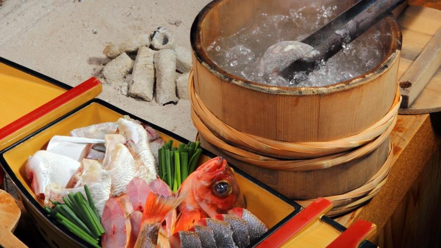 豪快調理!「男鹿名物 石焼き料理」■郷土料理の基本会席プラン