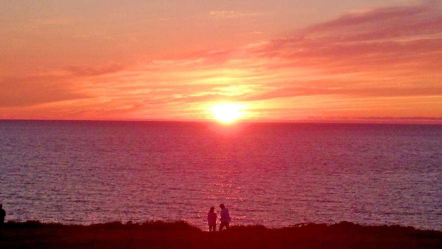 絶景!入道崎からの夕陽