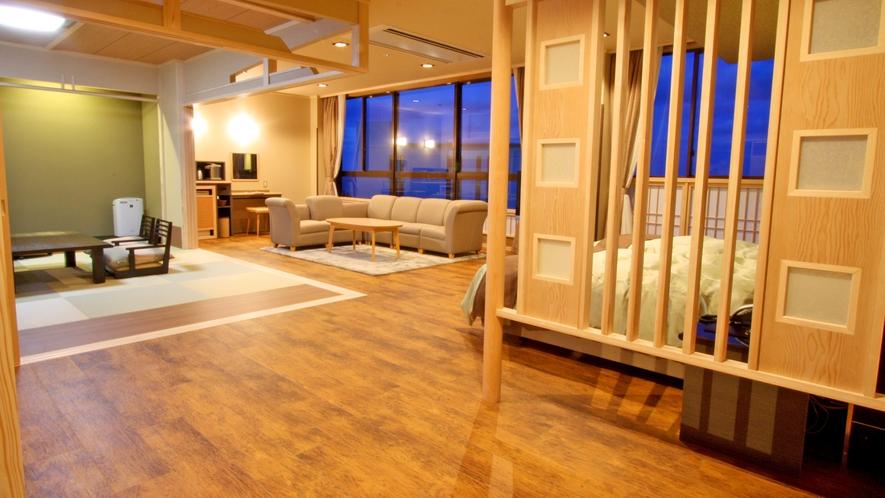 禁煙[本館最上階5階・和洋室]【ビューバス貴賓室76平米】