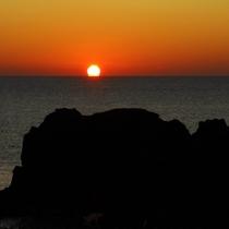 入道崎の日没