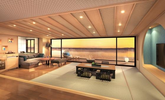 【新客室】水と雲の抄バリアフリー展望風呂付和洋室水の3・6