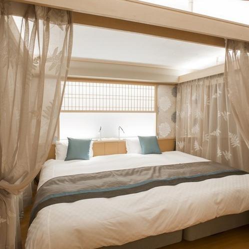 【禁煙】デザインフロアMINAMOバリアフリー露天風呂付和洋室201号室