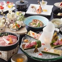 露天風呂付客室季節の会席料理春イメージ