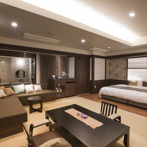 【禁煙】デザインフロアMINAMO展望風呂付和室和洋室205号室