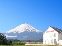 富士山とヴィラ
